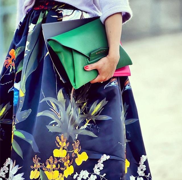 floral print navy skirt